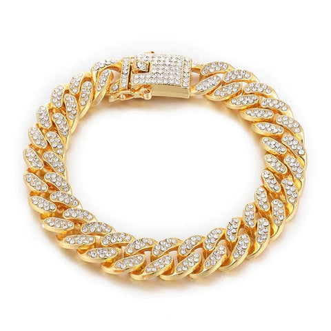 Miami Cuban Link Bracelet - Gold Cuban Ross and Specter