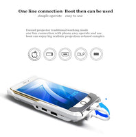 LED Micro Pocket Game Sync Screen projector For Android Mobile Phone 8 Plus X