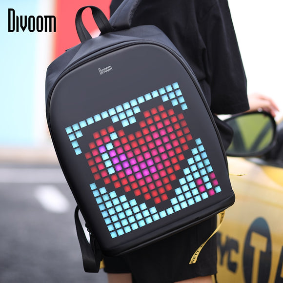 Divoom Pixel Art Backpack with Customizable LED Screen Waterproof