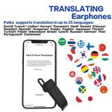 HobbyLane Peiko Real-time Translation Earphone Wireless Business Earbuds 25 Languages Bluetooth Headset d25