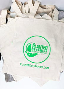 Reusable 100% Organic Cotton Tote Bag