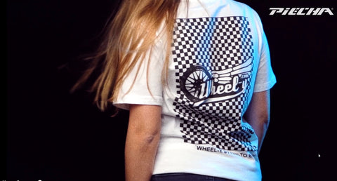 "PIECHA DESIGN - T-Shirt Modell ""Wheel-y"" weiß"