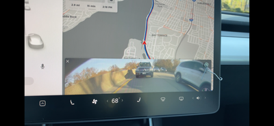 Tesla Model 3 Hack: View the rear view camera while driving (and still keep the navigation in view)