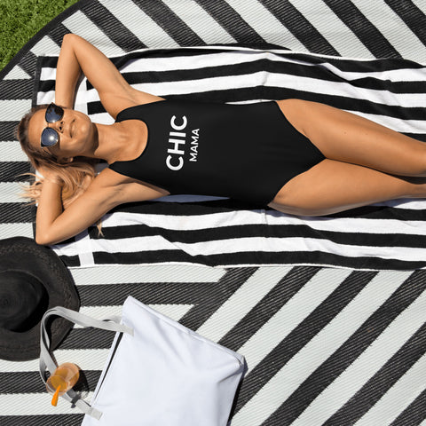 CHIC MAMA Black One-Piece Swimsuit