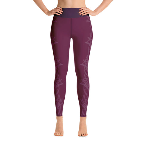 Winey Sides Yoga Leggings