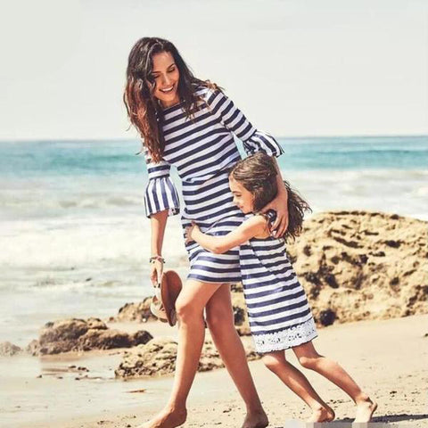Mama & Daughter Stripe Dresses