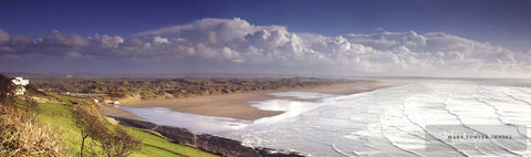 Saunton Sands Blue Panorama - markfowlerimages.com