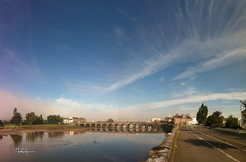 Barnstaple River Crossing Sky. - markfowlerimages.com