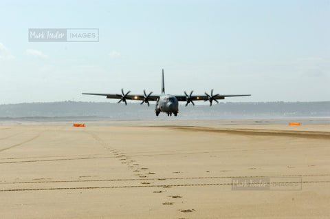 HERCULES C130J OPERATING SAUNTON SANDS IV - markfowlerimages.com