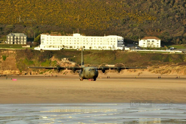 HERCULES C130J OPERATING SAUNTON SANDS 1 - markfowlerimages.com
