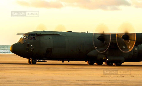 HERCULES C130J OPERATING SAUNTON SANDS 4 - markfowlerimages.com