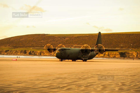 HERCULES C130J OPERATING SAUNTON SANDS 5 - markfowlerimages.com