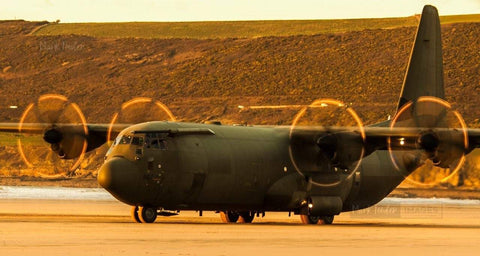 HERCULES C130J OPERATING SAUNTON SANDS 3 - markfowlerimages.com