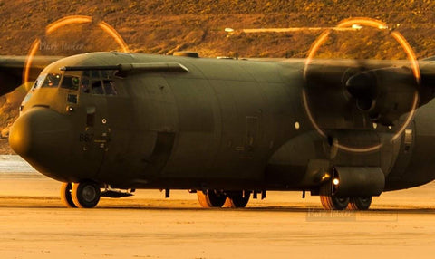 HERCULES C130J OPERATING SAUNTON SANDS 2 - markfowlerimages.com