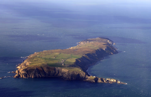Lundy Island Looking North Aerial Image - markfowlerimages.com