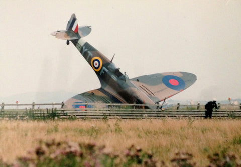 BBMF Spitfire Crash - markfowlerimages.com
