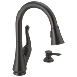Delta Talbott 16968-RBSD-DST Single Handle Pull-Down Kitchen Faucet with Soap Dispenser Venetian Bronze