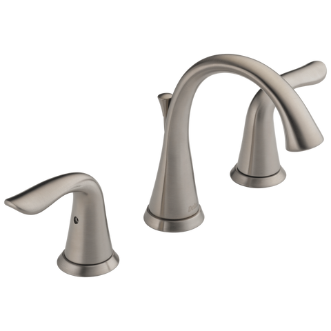 Delta Lahara 3538-SSMPU-DST Two Handle Widespread Bathroom Faucet Stainless