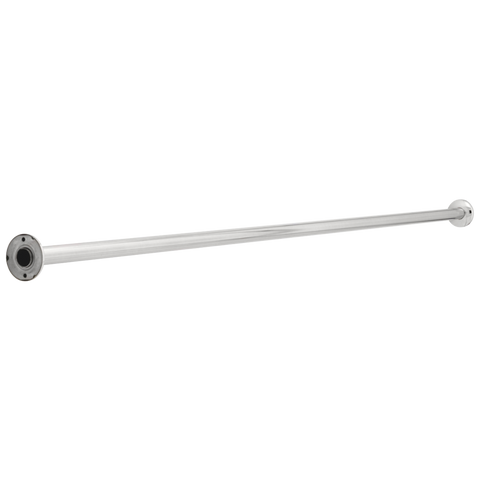 Commercial  42006 1-1/4 Inch x 6' Stainless Steel Rod with Flanges, Concealed Screws Chrome