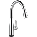 Delta Essa 9113T-DST Single Handle Pull-Down Kitchen Faucet with Touch2O Technology Chrome
