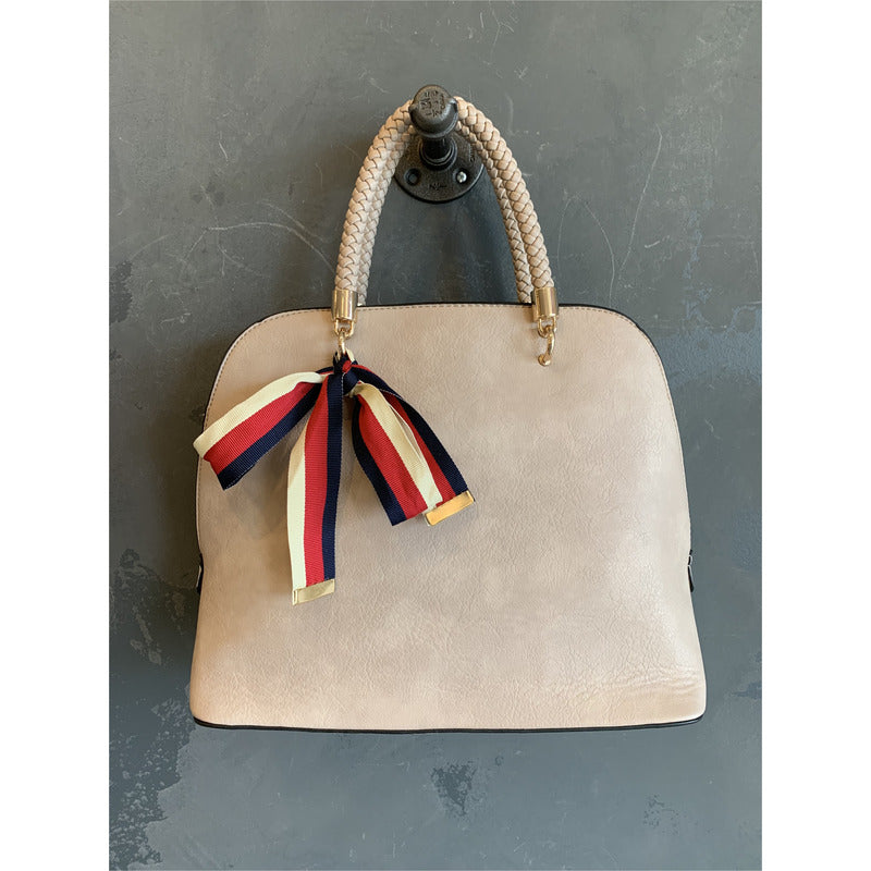 Top Handle bag With Ribbon