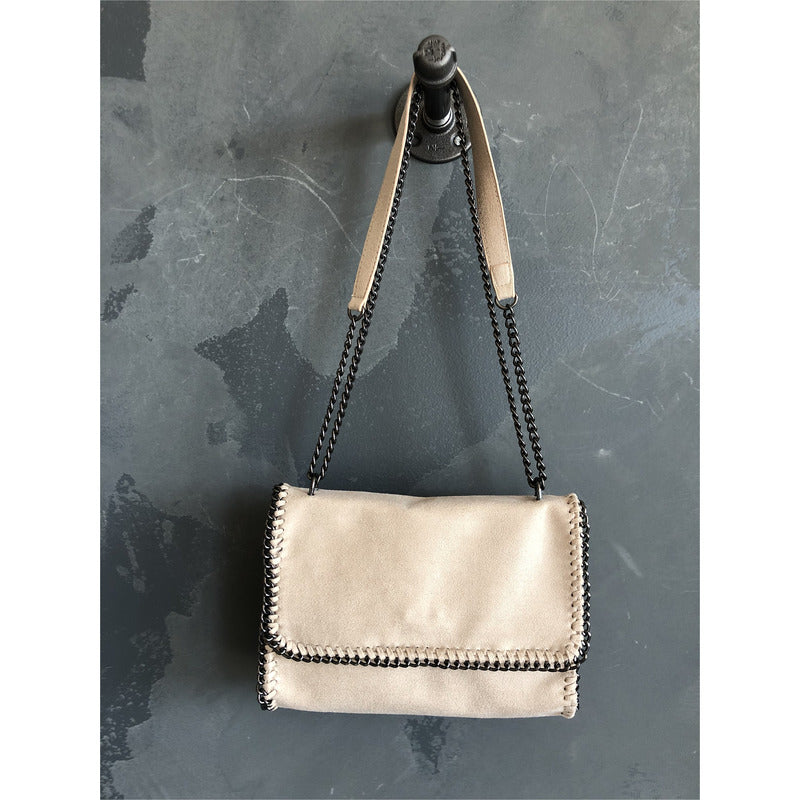 Whipstitch Chain Crossbody Bag