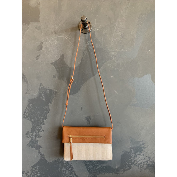 Two-Tone Convertible Crossbody