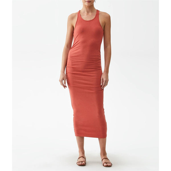 Racerback Midi Dress - Red Clay