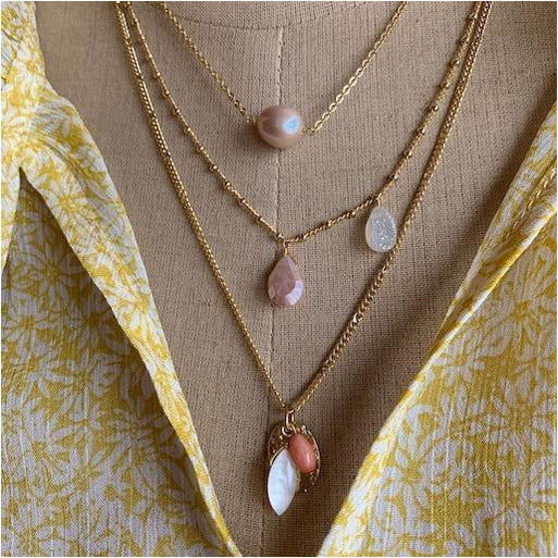 Semi-Precious 3 in 1 Necklace