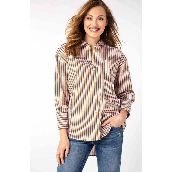 Stripe Oversized Classic Button Down