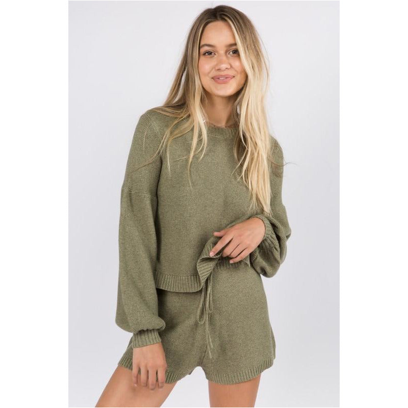 Textured Sweater - Olive