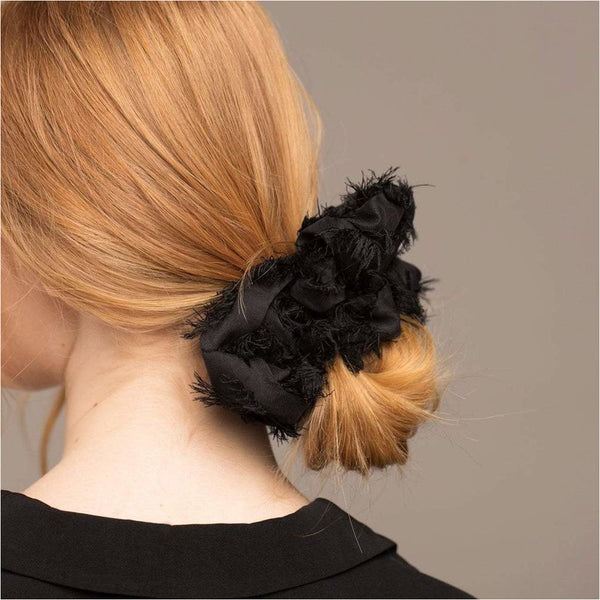 XL Scrunchie - Frayed