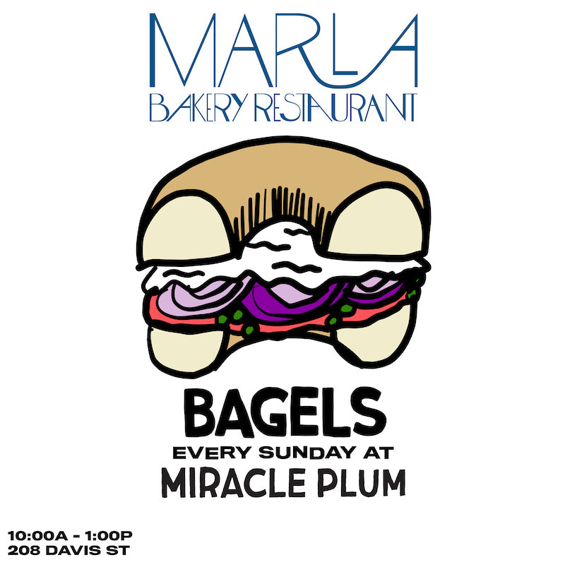 12/1/2019 10:00AM-1:00PM | MARLA BAKERY BAGEL POP-UP