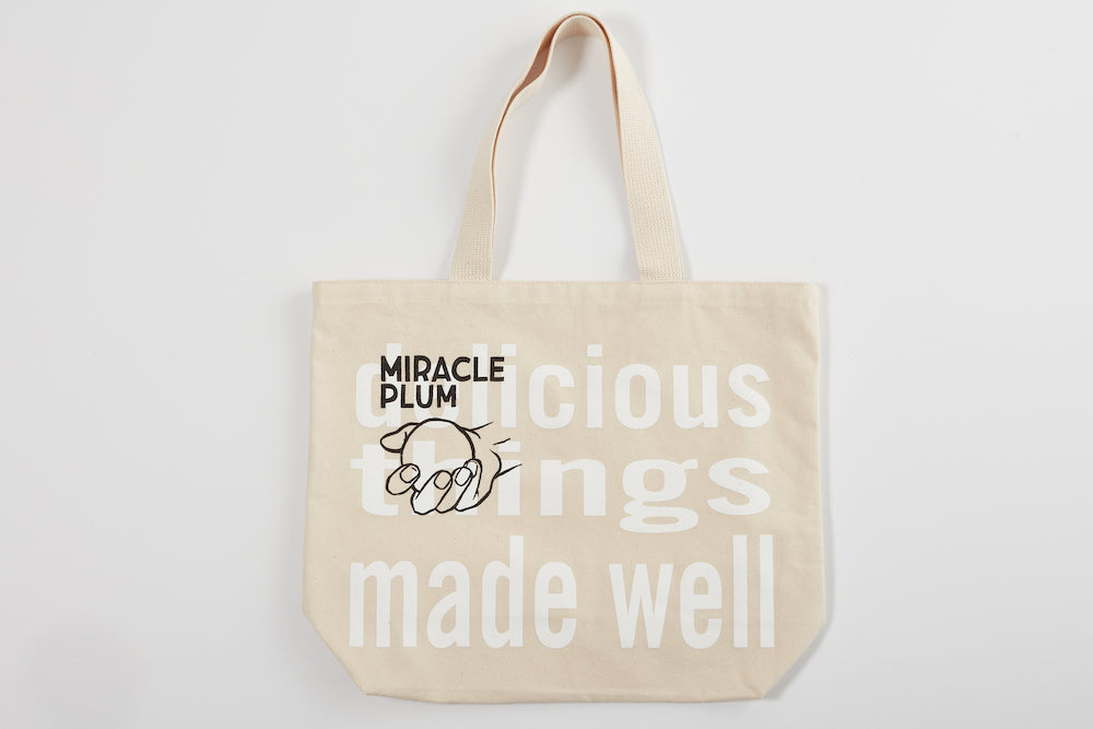 Miracle Plum Delicious Things Made Well Tote