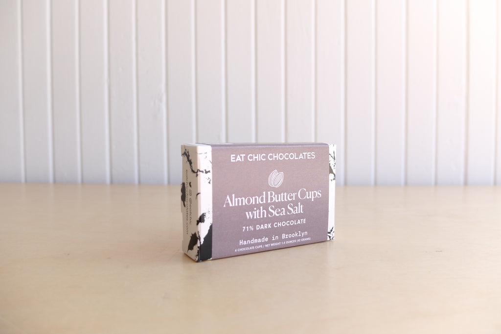Eat Chic Chocolates Dark Chocolate Almond Butter Cups with Sea Salt