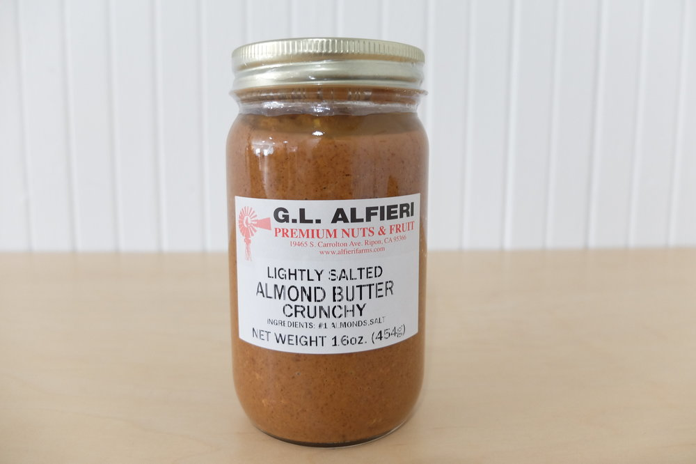 GL Alfieri Lightly Salted Crunchy Almond Butter
