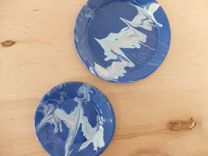 Bornn Multi Swirl Dinner Plate in Cobalt