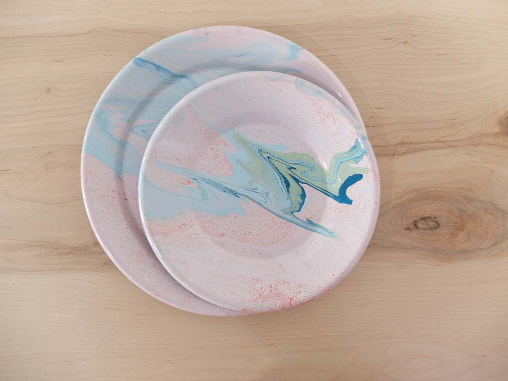 Bornn Multi Swirl Lunch Plate in Blush