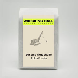 Wrecking Ball Coffee, Ethiopia Yirgacheffe Roba Family (12OZ)