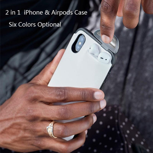 2 IN1 AIRPODS IPHONE CASE