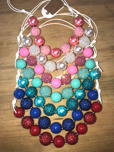 Sparkle String Chunky Necklaces