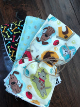 Load image into Gallery viewer, Custom fabric burp cloths sets