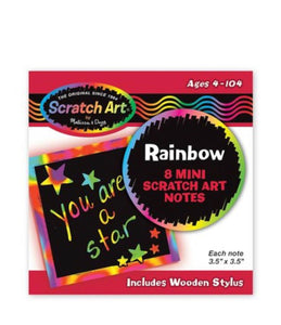 Rainbow Mini Scratch Art Notes