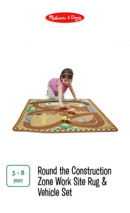 Round the Construction Zone Rug