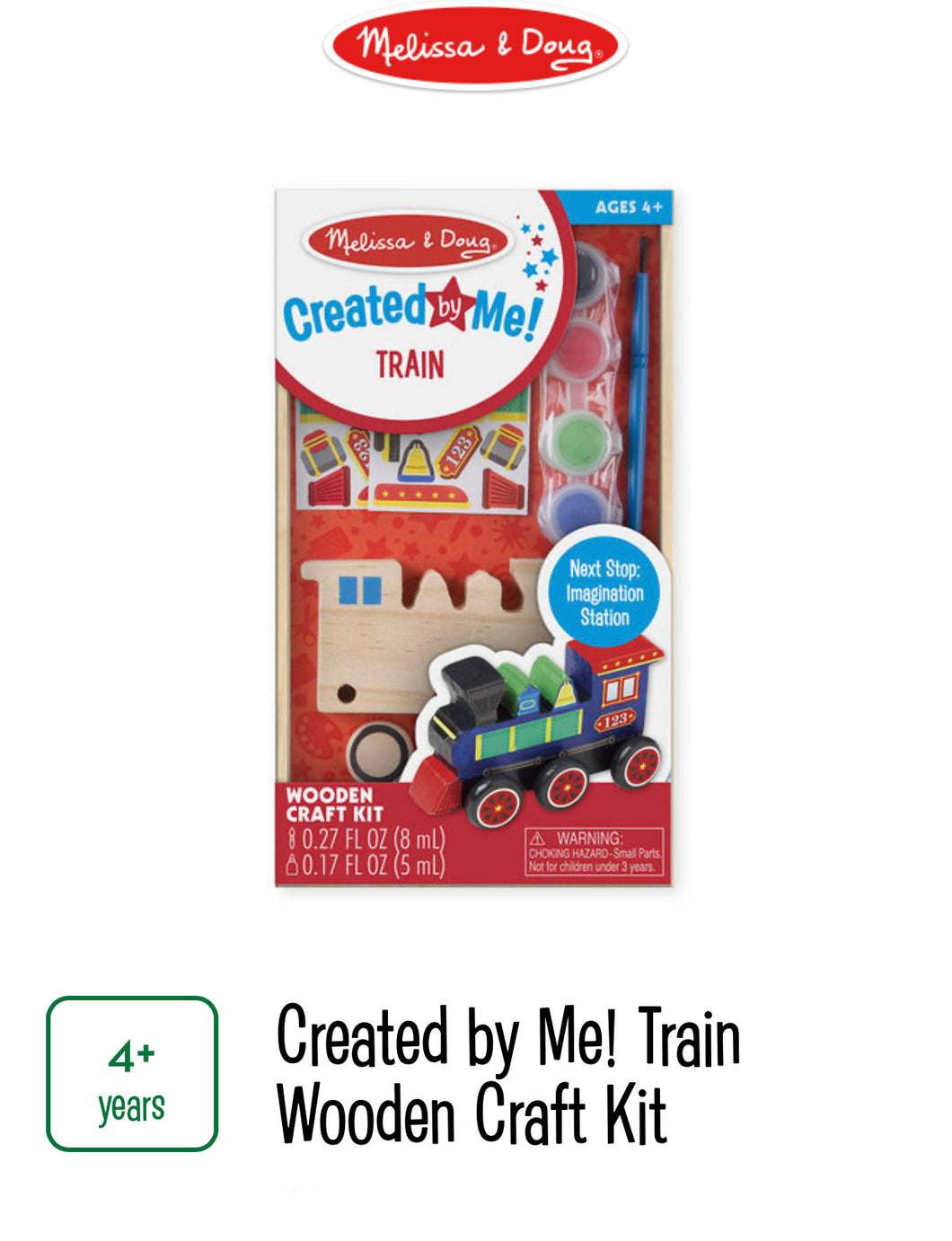 Created By Me Train Wooden Craft Kit