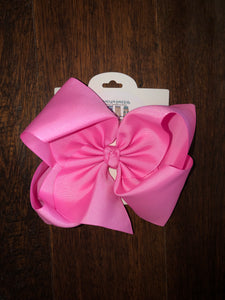 Pink 7.5in Bow