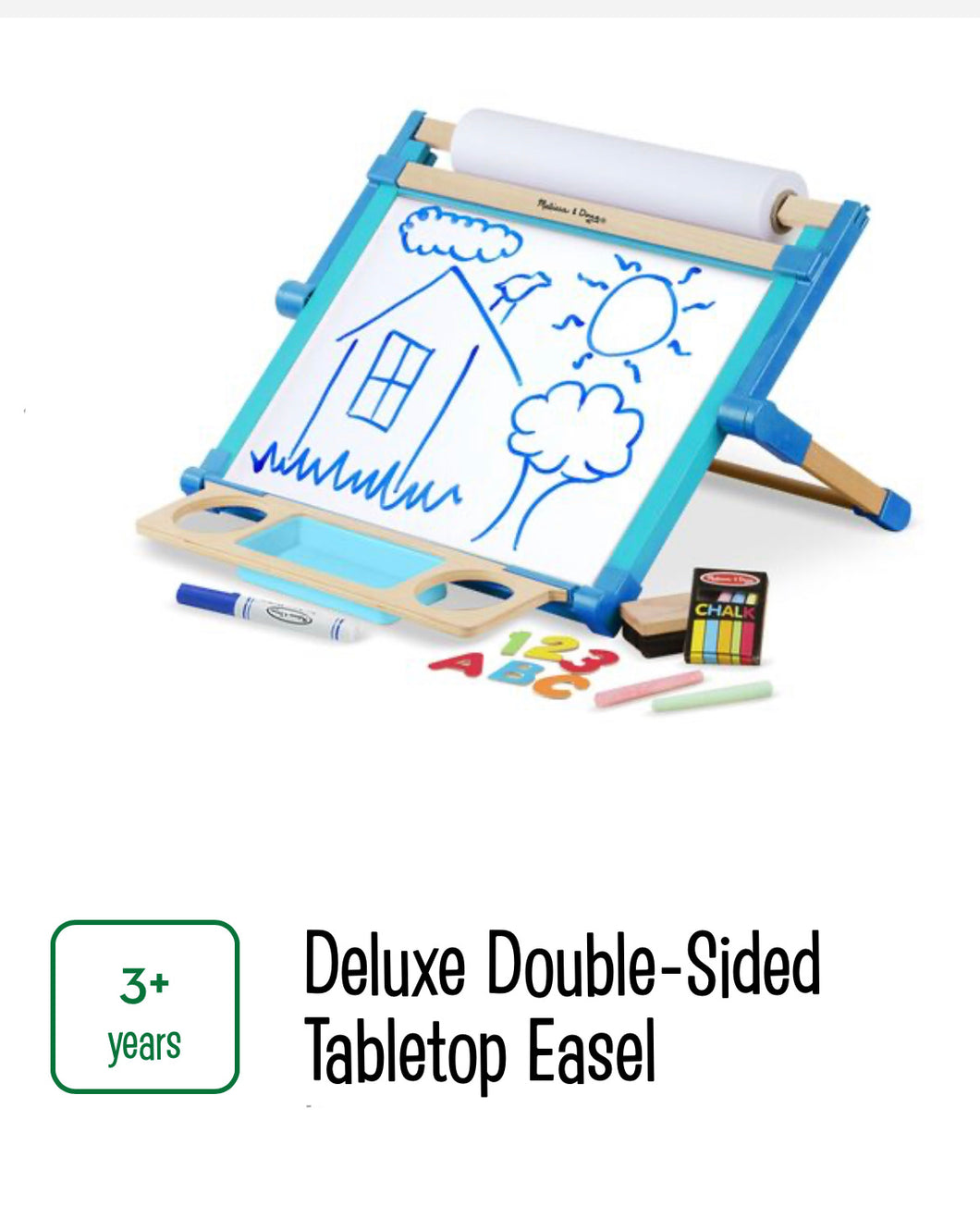Double Sided Magnetic Tabletop Easel