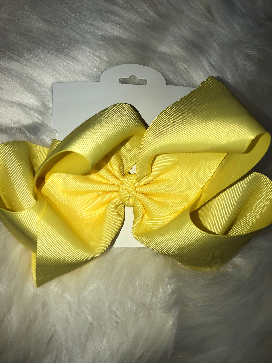 "Yellow 7.5"" Bow"