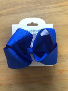 "Royal Blue 4"" Hair Bow"