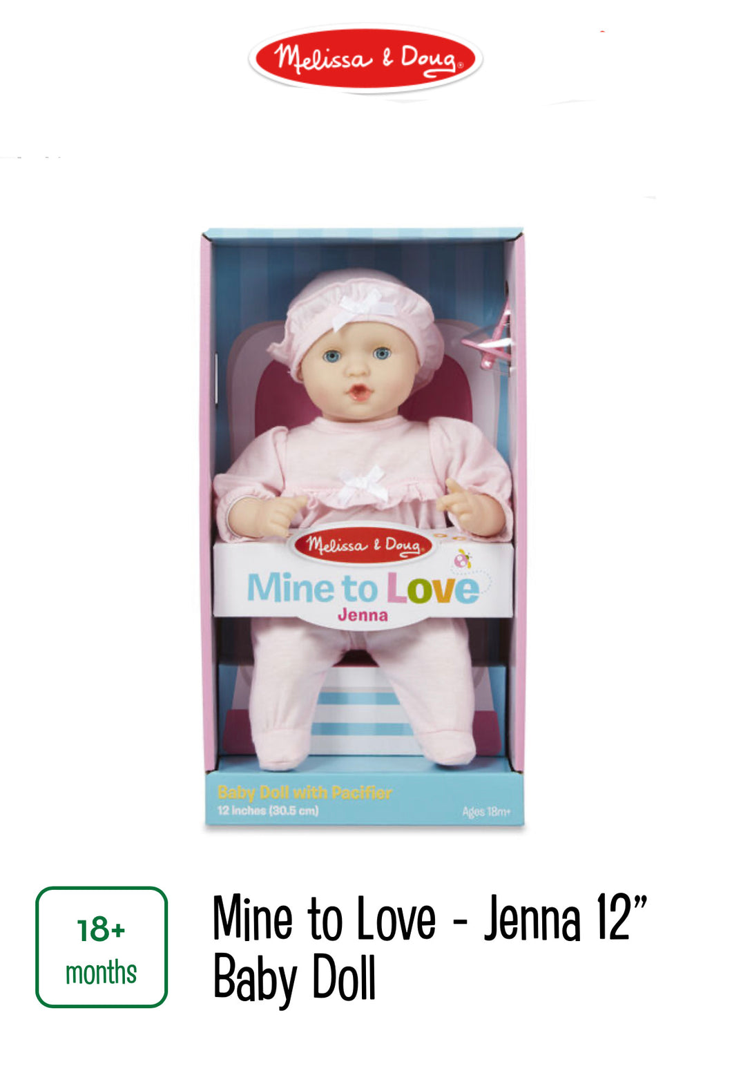 "Mine to Love Jenna 12"" Baby Doll"